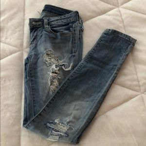 Decree Light Blue Super Ripped Jeans